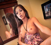 Janessa Brazil - Hot Latina Finger Fucking in Bathroom 8