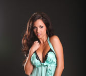 Janessa Brazil - Amazing Brunette in Naughty Green Lingerie 2