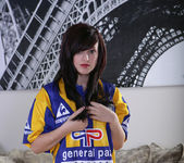 Autumn Riley - Blue & Yellow Soccer Jersey 2