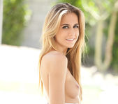 Cassidy Cole strips out of her dress on a warm summer day 8