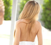 Cassidy Cole strips out of her dress on a warm summer day 9