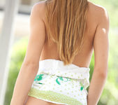 Cassidy Cole strips out of her dress on a warm summer day 12