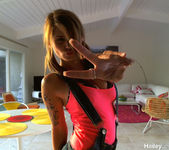 Pictures of Hailey Leigh teasing her fans on webcam 7