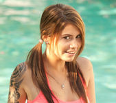 Hailey Leigh - Pink In Pool 2