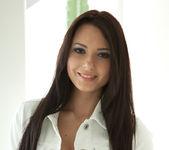 Natasha Belle - White Jacket Red Bra 2