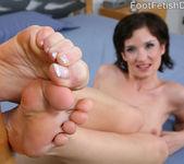 Petra Davis European Feet with Hairy Bush 5