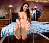 Dahlia Sin Pussy Pounding and Footjob 8