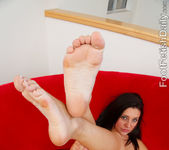 Gracie Glam Cum Coated Footjob 8