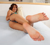 Lyla Storm Strips Undies Off and Gets Cum on Feet 3
