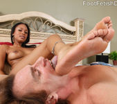 McKenzie Sweet Foot Worship and Interracial Sex 11