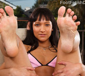 Sabrina Sweet Interracial Foot Fetish and Cummy Soles 2