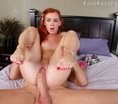 Dani Jensen Rides the Cock and Pussy Eating Footjob 9