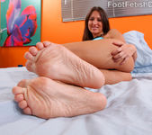 Lizz Tayler Exposes Smooth Soles and Rides the Cock 3