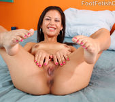 Young Ariana Fox Gives Footjob and Sucks Cock 8