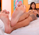 Samora Crunches Up Her Toes and She Gets a Cock in Her Ass 5