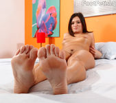 CeCe Stone Wraps Her Lips and Feet Around a Black Cock 5