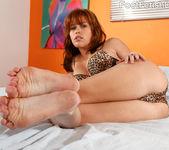 Sasha Heart Wraps Her Sexy Feet Around a Fat Cock 2