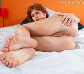 Sasha Heart Wraps Her Sexy Feet Around a Fat Cock 8