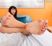 Alia Janine Wraps Her Pretty Feet Around a Hard Cock 5