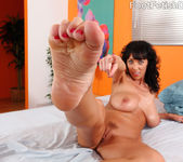 Alia Janine Wraps Her Pretty Feet Around a Hard Cock 8