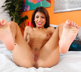 Veronica Rodriguez Gives a Footjob and Rides the Cock Deep 5