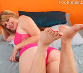 Emma Ash Wraps Her Sexy Feet Around a Black Cock 3