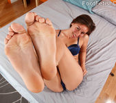 Rilynn Loves Wrapping Her Long Toes Around a Hard Cock 3