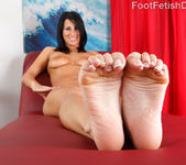 Sophia Shows Off Her Hot Body and Gives a Sexy Footjob 5