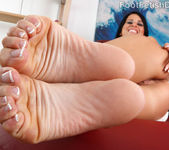 Sophia Shows Off Her Hot Body and Gives a Sexy Footjob 8