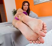 Jaslene Jade Wraps Her Sexy Feet Around A Pulsing Cock 3