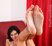 Amber Cox Offers Up Her Feet and Pussy to that Hard Cock 4
