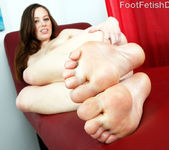 Natalie Moore Wraps Her Feet Around a Big Black Cock 6