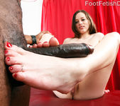 Natalie Moore Wraps Her Feet Around a Big Black Cock 10