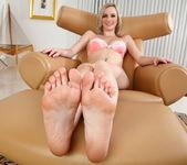 Skylar teases a cock with her sexy feet 2