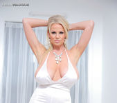 White Pantsuit - Kelly Madison 5