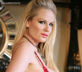 Red Lace Brassiere - Kelly Madison 6