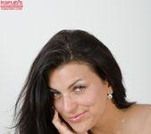 Anellita - slutty brunette poses naked 2