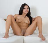 Anellita - slutty brunette poses naked 9