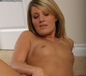 Adrina - amateur blonde naked on the rug 14
