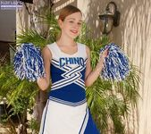 Alaina Fox - amateur cheerleader nudes in the garden 2