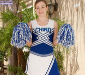 Alaina Fox - amateur cheerleader nudes in the garden 3