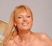 Angelica - blonde milf slut fingering her pussy 5