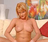 Angelica - blonde milf slut fingering her pussy 9