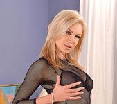 Angela takes off her slutty underwear 2