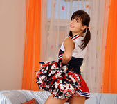 Anna Tatu - naughty cheerleader shows her feet 3