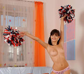 Anna Tatu - naughty cheerleader shows her feet 9