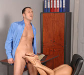Amabella gives the boss a footjob 13