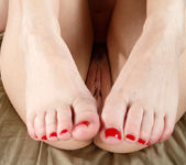 Katie St. Ives Awaits a Cum Load on Her Toes 4