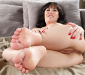 Katie St. Ives Awaits a Cum Load on Her Toes 6