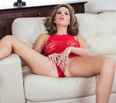 Vicky Burns Teases In Her Red Hot Lingerie 4
